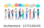 people conversation color... | Shutterstock .eps vector #1171136143