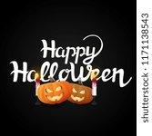 lattering  happy halloween ... | Shutterstock .eps vector #1171138543