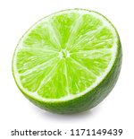 fresh lime isolated on white... | Shutterstock . vector #1171149439