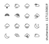 weather day and night outline... | Shutterstock .eps vector #1171150819