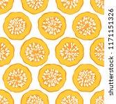 seamless pattern with pumpkin... | Shutterstock .eps vector #1171151326