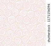 white seamless pattern. outline ... | Shutterstock . vector #1171156096