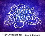 merry christmas vector... | Shutterstock .eps vector #117116128