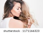 beautiful blonde woman with... | Shutterstock . vector #1171166323