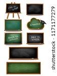 big set of chalkboards. back to ... | Shutterstock .eps vector #1171177279