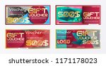 gift voucher gold template... | Shutterstock .eps vector #1171178023