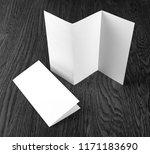 mockup of white booklet on... | Shutterstock . vector #1171183690