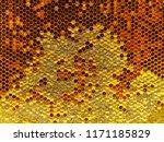 bee honeycombs.the structure of ...   Shutterstock . vector #1171185829