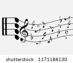 abstract black music notes on...   Shutterstock .eps vector #1171188130