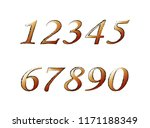 brown numbers on an isolated... | Shutterstock .eps vector #1171188349