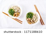 japanese food. bowl of rice ... | Shutterstock . vector #1171188610