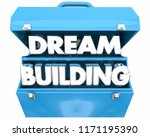 dream building hopes aspiration ... | Shutterstock . vector #1171195390