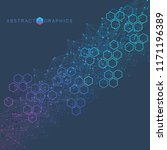 hexagonal abstract background.... | Shutterstock .eps vector #1171196389
