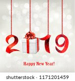 2019 new years background with... | Shutterstock .eps vector #1171201459
