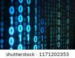Computer Data Matrix. Vertical...