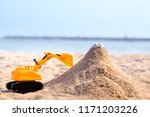 Excavator Toys With Sand Castle ...