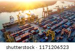 logistics and transportation of ... | Shutterstock . vector #1171206523
