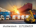 logistics and transportation of ... | Shutterstock . vector #1171206529