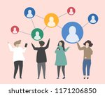 connecting people with each... | Shutterstock .eps vector #1171206850