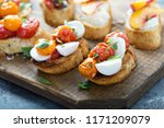 crostini or bruschetta board... | Shutterstock . vector #1171209079