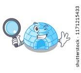 detective cartoon dome igloo... | Shutterstock .eps vector #1171215433
