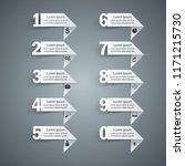 business infographics origami... | Shutterstock .eps vector #1171215730