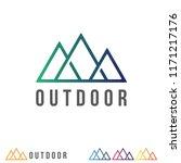 simple mountain logo design.... | Shutterstock .eps vector #1171217176