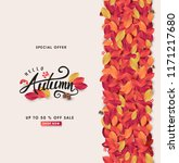 autumn leaves background... | Shutterstock .eps vector #1171217680