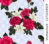 seamless pattern with flowers... | Shutterstock .eps vector #1171218529