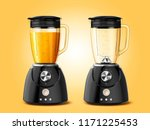 set of juicer blender... | Shutterstock .eps vector #1171225453