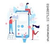 the development team creates a... | Shutterstock .eps vector #1171228453