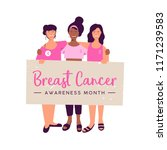 breast cancer awareness month... | Shutterstock .eps vector #1171239583