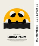 movie and film poster template... | Shutterstock .eps vector #1171240573