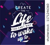 inspirational quote  motivation.... | Shutterstock .eps vector #1171246360