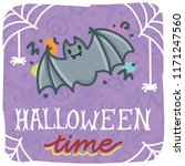 halloween time illustration...   Shutterstock .eps vector #1171247560