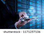 coding software developer work... | Shutterstock . vector #1171257136