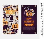 happy halloween two sides... | Shutterstock .eps vector #1171262749