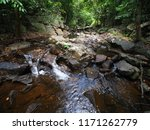 nature waterfall in the forest | Shutterstock . vector #1171262779