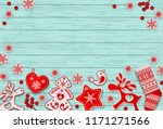 christmas and new year... | Shutterstock .eps vector #1171271566