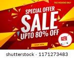 sale banner template red cart... | Shutterstock .eps vector #1171273483