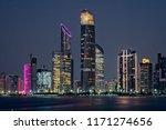 abu dhabi skyline skyscrapers... | Shutterstock . vector #1171274656