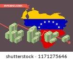 hyperinflation in venezuela... | Shutterstock .eps vector #1171275646