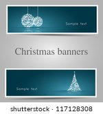 set of christmas banners  tree... | Shutterstock .eps vector #117128308