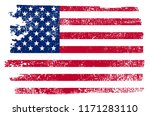 grunge usa flag.vintage... | Shutterstock .eps vector #1171283110