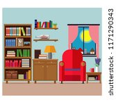 cozy living room  a place to... | Shutterstock .eps vector #1171290343