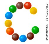 letter c of sweet colored... | Shutterstock . vector #1171296469