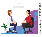young mother consulting with... | Shutterstock .eps vector #1171299400