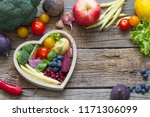 Healthy food in heart diet...