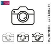 camera outline icon on white... | Shutterstock .eps vector #1171306369