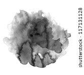 abstract black water color art...   Shutterstock . vector #117131128